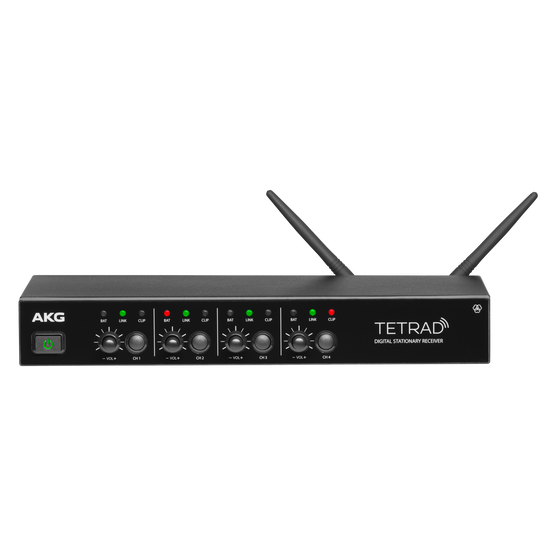 DSRTETRAD (EU) - Black - Reference digital wireless multichannel receiver - Hero
