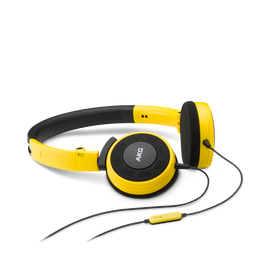 Y 30 - Yellow - Stylish, uncomplicated, foldable headphones with 1 button universal remote/mic - Hero