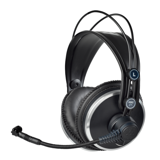 HSC271 - Black - Professional over-ear headset with condenser microphone - Hero