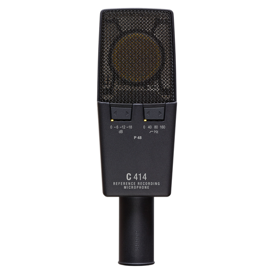 C414 XLS - Black - Reference multipattern  condenser microphone - Back