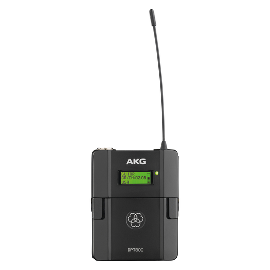 DPT800 Band2 50mW - Black - Reference digital wireless body pack transmitter - Hero