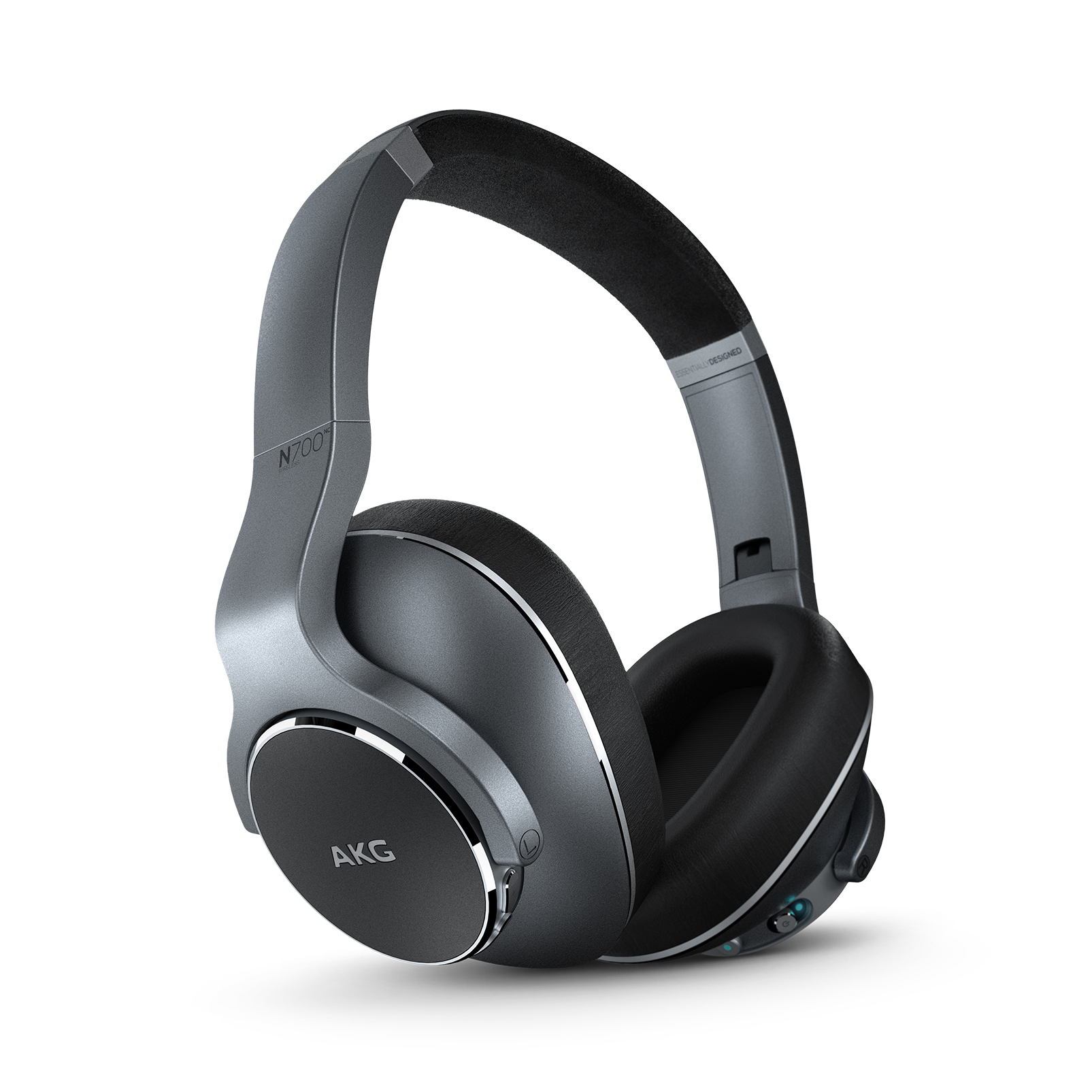 AKG N700NC Wireless - Silver - Wireless, Adaptive Noise Cancelling Headphones - Hero