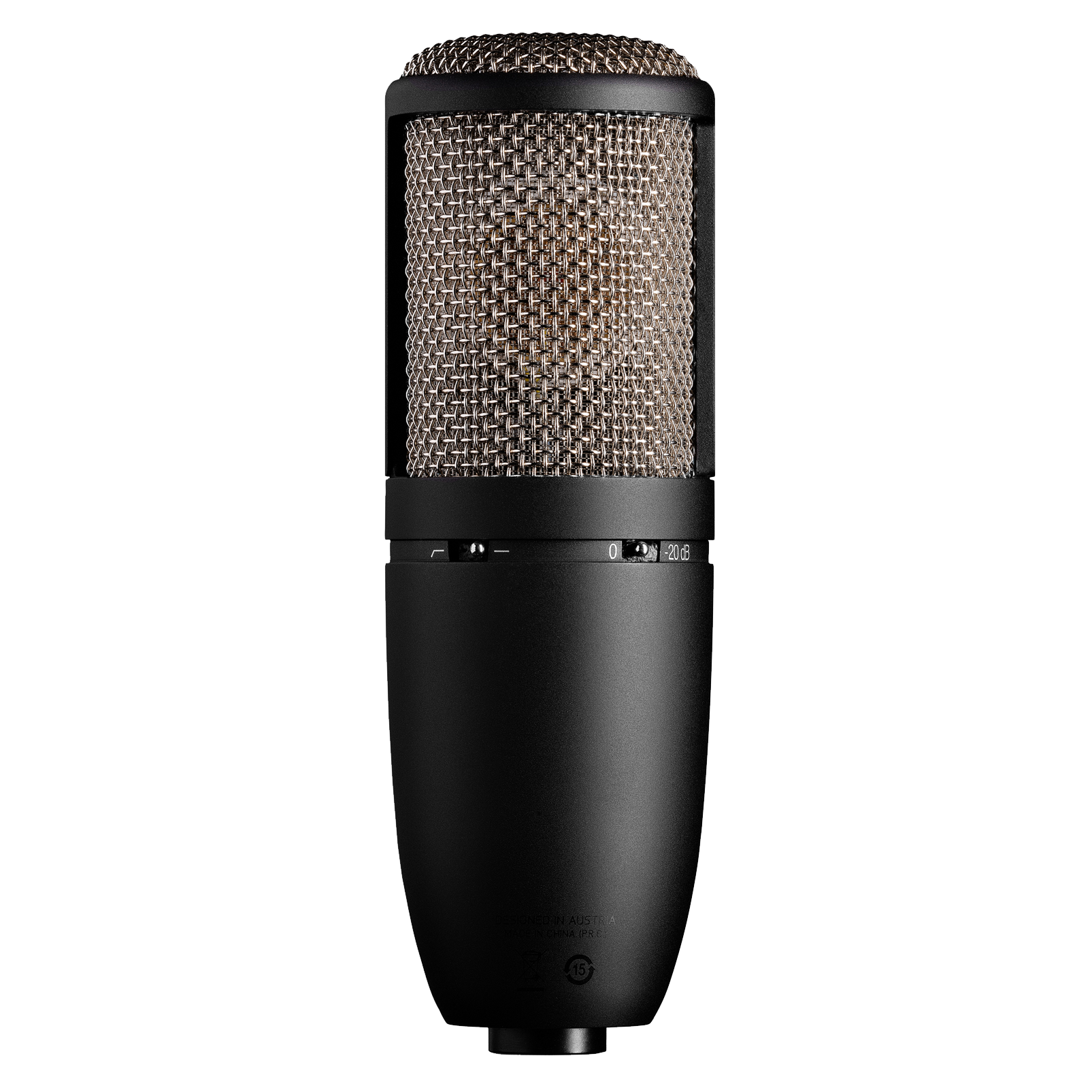 P420 - Black - High-performance dual-capsule true condenser microphone - Back