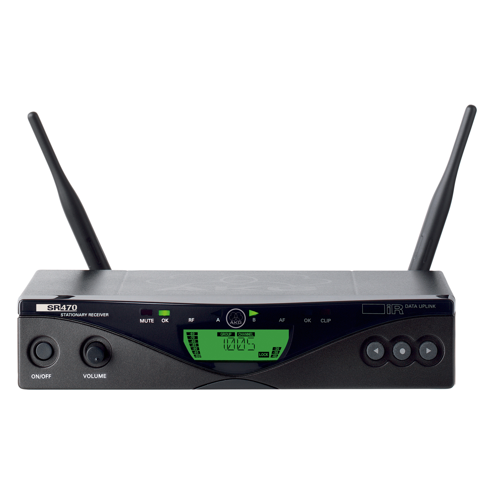 SR470 Band-8 - Black - Professional wireless stationary receiver - Hero