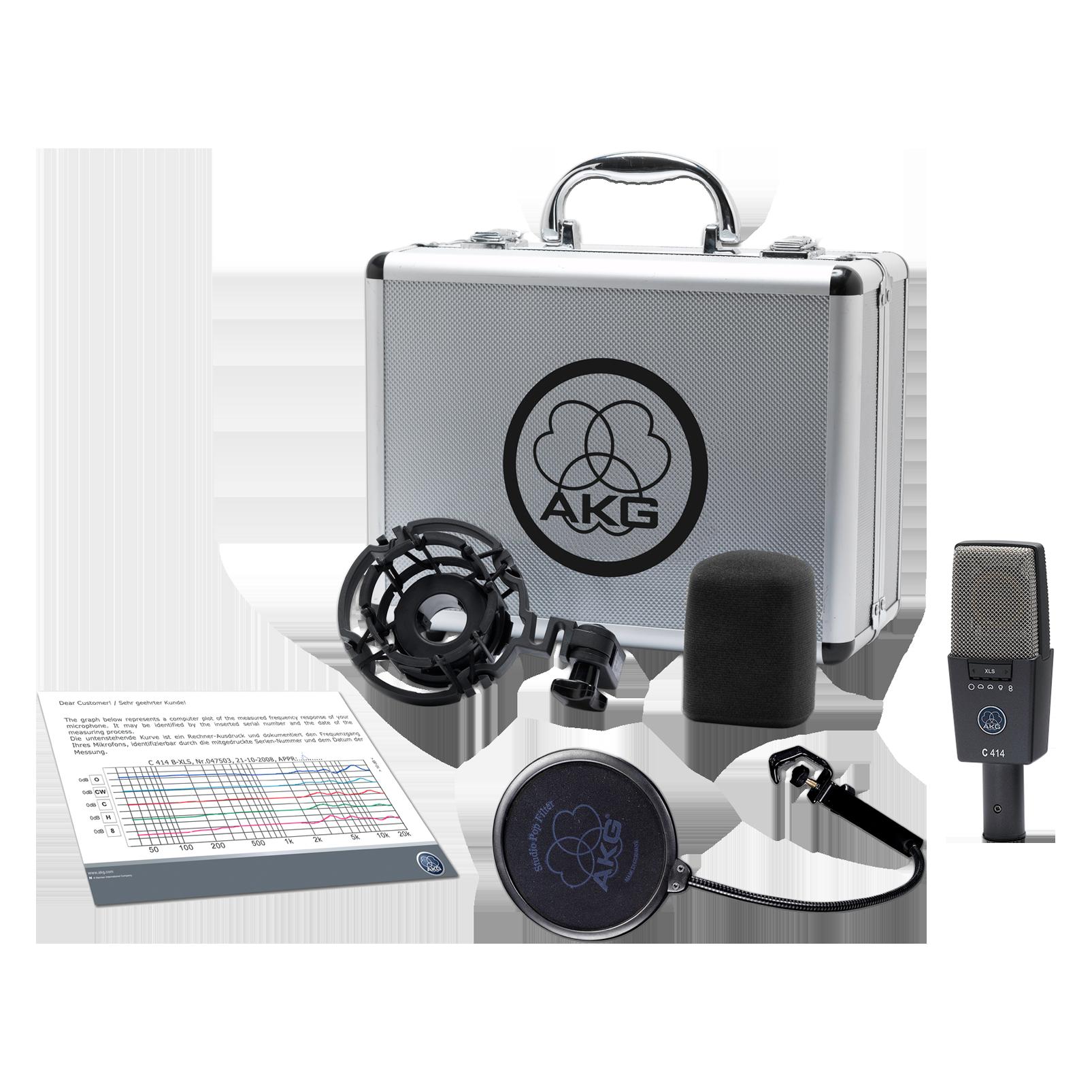 C414 XLS - Black - Reference multipattern  condenser microphone - Detailshot 1